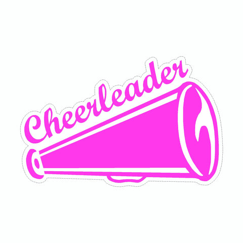 Cheerleading Cheer Horn Vinyl Car Sticker