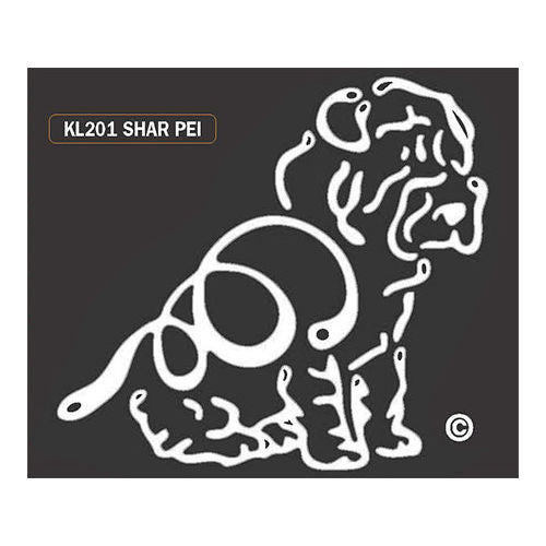 K Line Shar Pei Dog Car Window Decal Tattoo