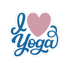I Love Yoga Namaste Assorted Vinyl Car Sticker