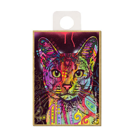 Abyssinian Cat Dean Russo Wood Dog Magnet
