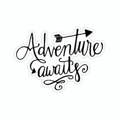 Adventure Awaits Black Vinyl Sticker