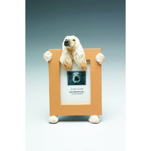 Afghan Hound Dog Picture Frame Holder