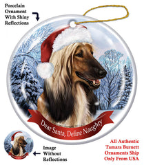 Afghan Hound Howliday Dog Christmas Ornament