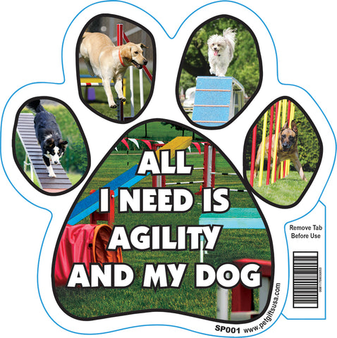 All I Need Dog Paw Magnets Assorted