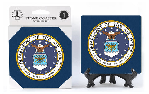 United States US Air Force Stone Drink Coaster