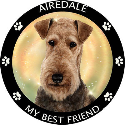 Airedale Terrier My Best Friend Dog Breed Magnet