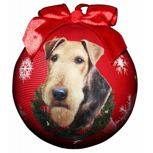 Airedale Shatterproof Dog Breed Christmas Ornament