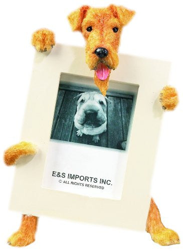 Airedale Terrier Dog Picture Frame Holder