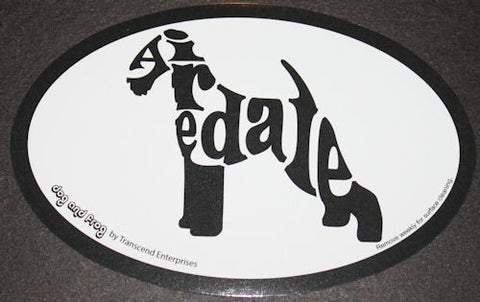 Airedale Terrier Euro Dog Breed Car Sticker Decal