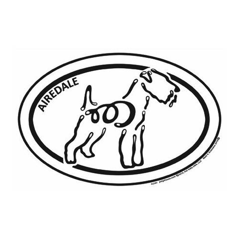 Airedale Terrier Euro K Line Magnet