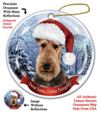 Airedale Terrier Howliday Dog Christmas Ornament