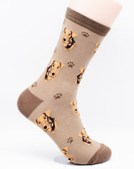 Airedale Terrier Dog Breed Novelty Socks