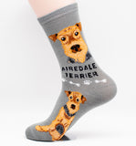 Airedale Terrier Dog Breed Foozy Novelty Socks