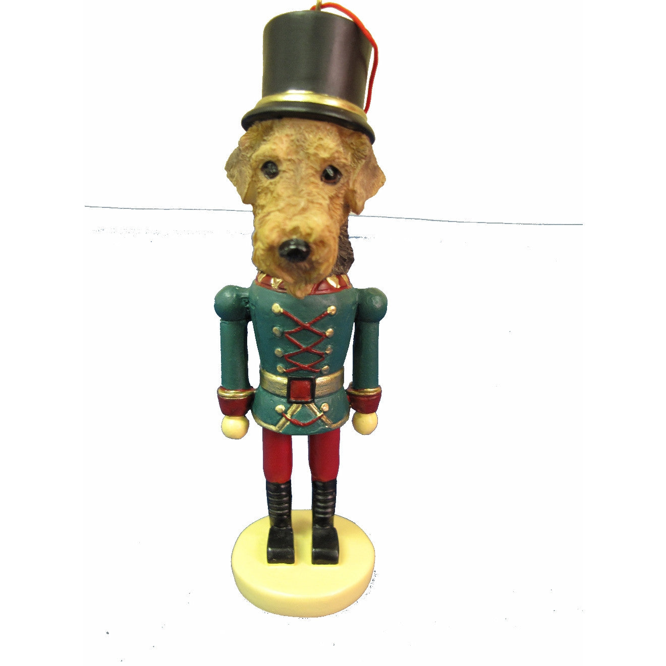 Airedale Terrier Dog Toy Soldier Nutcracker Christmas Ornament