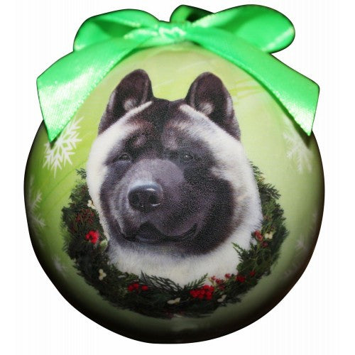Akita Shatterproof Dog Breed Christmas Ornament