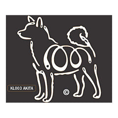 Akita K Lines Dog Window Decal Tattoo