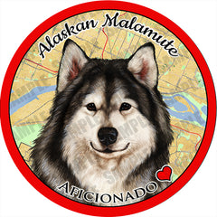 Alaskan Malamute Absorbent Porcelain Dog Breed Car Coaster
