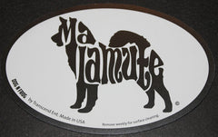Alaskan Malamute Euro Dog Breed Car Sticker Decal