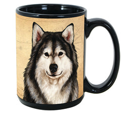 Faithful Friends Alaskan Malamute Dog Breed Coffee Mug