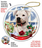 American Bulldog Howliday Dog Christmas Ornament