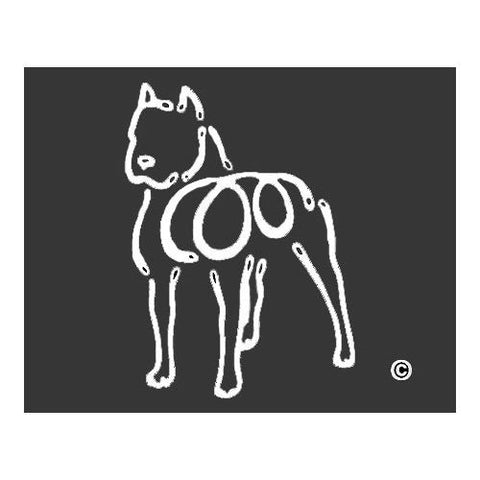 American Bulldog K Lines Window Decal Tattoo