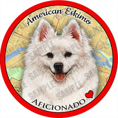 American Eskimo Absorbent Porcelain Dog Breed Car Coaster
