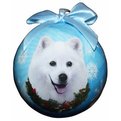 American Eskimo Shatterproof Dog Breed Christmas Ornament