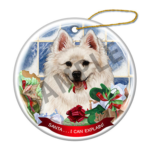 American Eskimo Howliday Dog Christmas Ornament