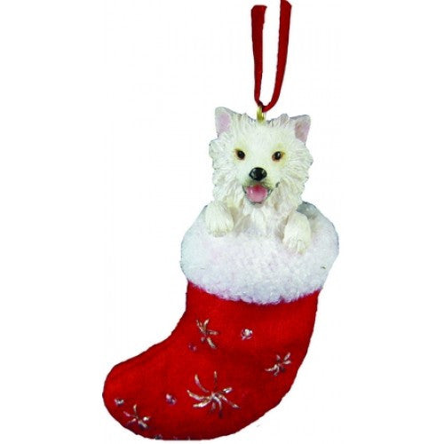 Santa's Little Pals American Eskimo Christmas Ornament