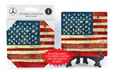 US American Flag United We Stand Stephanie Burgess Stone Drink Coaster