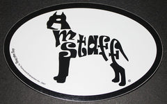 American Staffordshire Terrier Amstaff Euro Dog Breed Car Sticker Decal