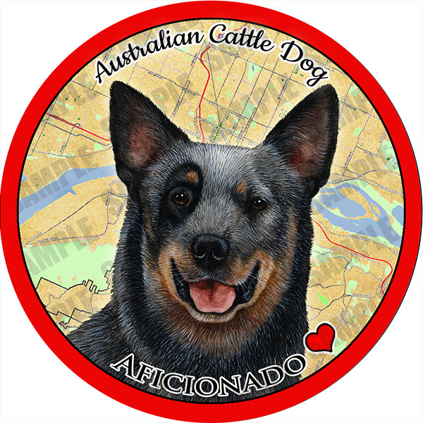 Australian Cattle Dog Absorbent Porcelain Dog Breed Car Coaster