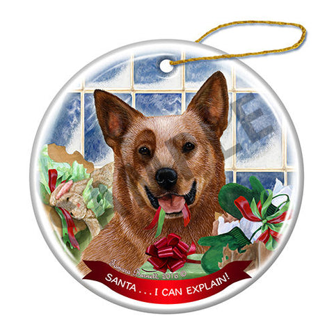 Australian Cattle Dog Red Howliday Dog Christmas Ornament