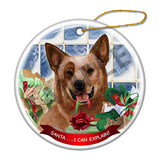 Australian Cattle Dog Red Tick Howliday Dog Christmas Ornament