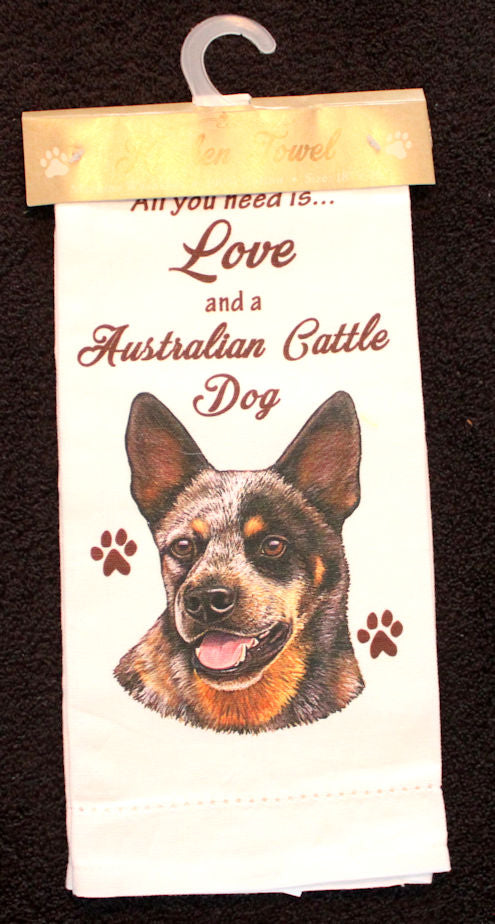 Australian Cattle Dog Dish Towel