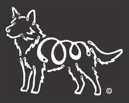K Line Australian Cattle Dog Window Decal Tattoo