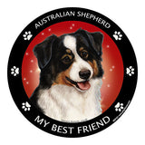 Australian Shepherd Black Tri My Best Friend Dog Breed Magnet