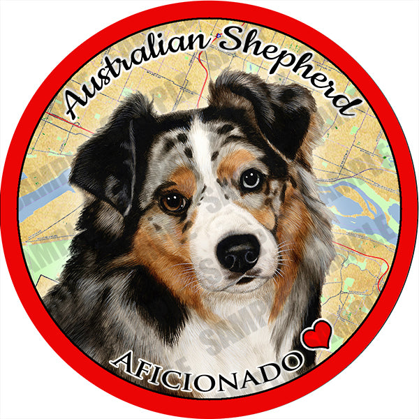 Australian Shepherd Blue Merle Absorbent Porcelain Dog Breed Car Coaster