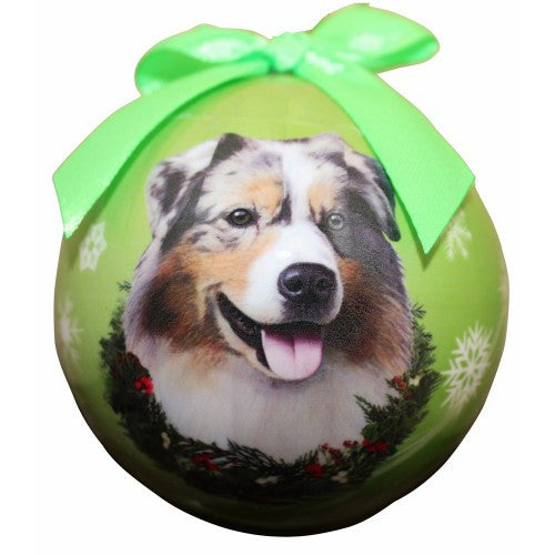 Australian Shepherd Dog Breed Christmas Ornament