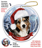 Australian Shepherd Howliday Dog Christmas Ornament