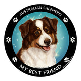 Australian Shepherd Red Tri My Best Friend Dog Breed Magnet
