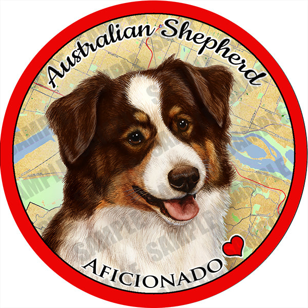 Australian Shepherd Red Tri Absorbent Porcelain Dog Breed Car Coaster