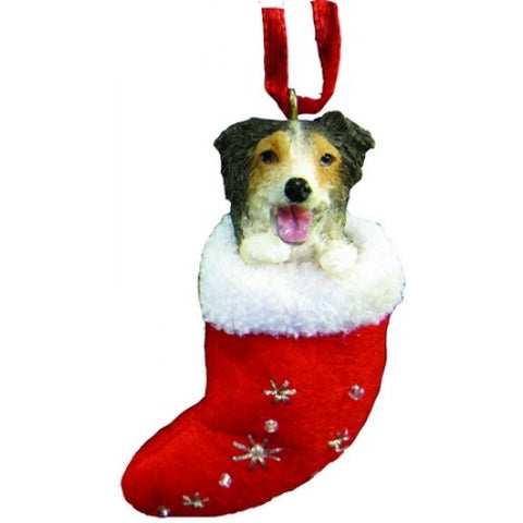 Santa's Little Pals Australian Shepherd Christmas Ornament
