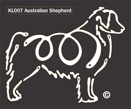 K Line Australian Shepherd Dog Window Decal Tattoo