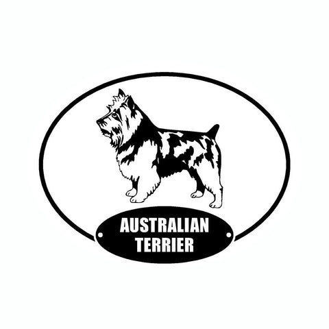 Australian Terrier Euro Vinyl Dog Car Sticker