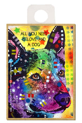 Australian Cattle Dog All You Need Is Love And A Dog Dean Russo Wood Dog Magnet