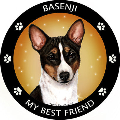 Basenji My Best Friend Dog Breed Magnet