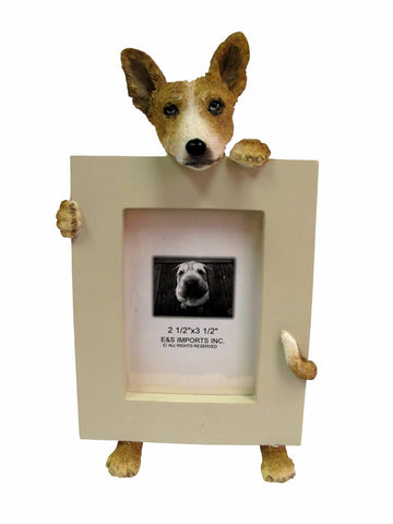 Basenji Dog Picture Frame Holder