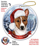 Basenji Red Howliday Dog Christmas Ornament
