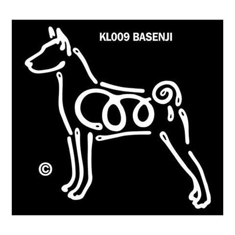 Basenji K Lines Window Decal Tattoo
